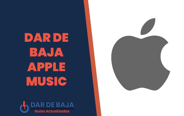 dar de baja apple music