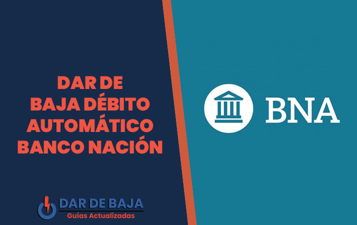 dar de baja debito banco nacion