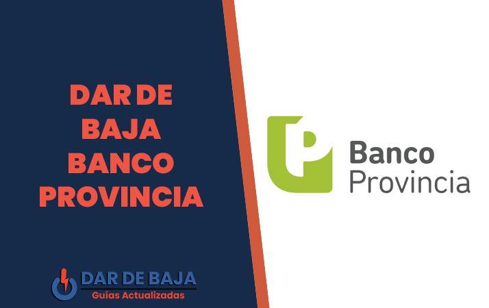 dar de baja banco provincia
