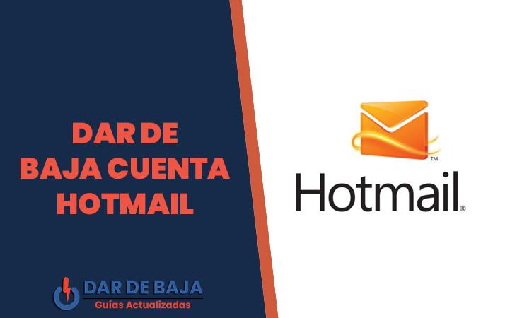 dar de baja cuenta hotmail